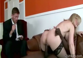 stunning mature mom in hot dark nylons gets her