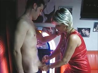 aged makes handjob and oral pleasure at the
