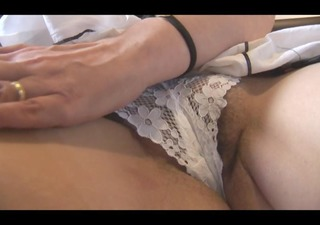 breasty hairy aged with wonderful curves disrobes