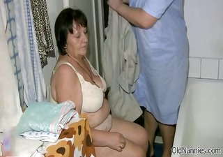 naughty old lady gets her hirsute twat part7