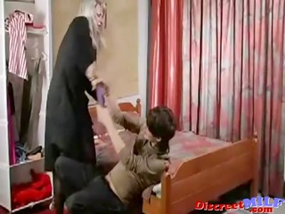 aged russian cougar screwed by fake penis and