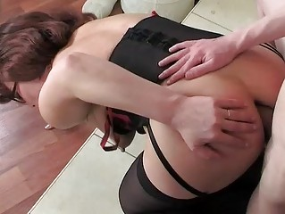 mommy wearing nylons for her anal workout