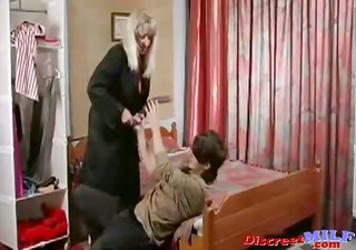 mature russian cougar fucked by vibrator and cock