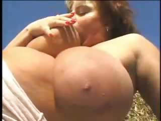 older fat lady acquires drilled outside