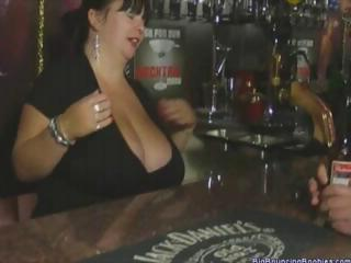fat british aged barmaid with massive tits