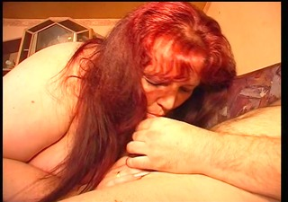 big and enchanting lady eats a cock