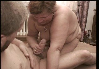flaccid old lady receives some hard wiennie
