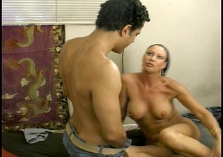 sexy mature lady pays the pool boy with cum-hole