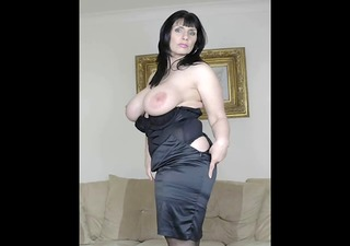 older in black nylons