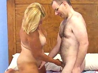 chesty older chubby golden-haired gets boned