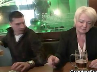 completely drunk granny takes cocks