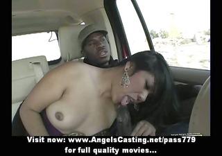 enchanting asian brunette lady having interracial