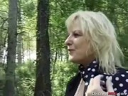 french mature receives anal outdoors