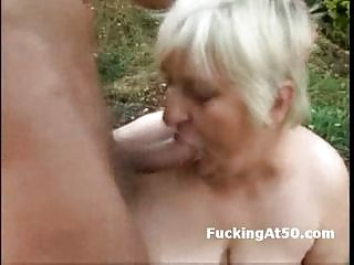 concupiscent fat granny orall-service and drilled