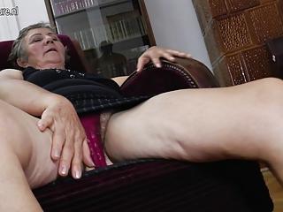 old grandma fucks younger lesbians