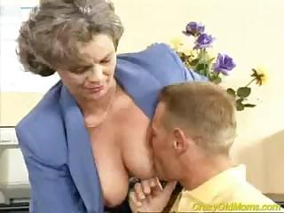 crazy old mom acquires dick screwed in the office