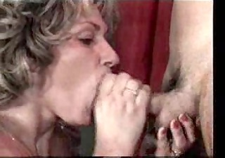 cum on aged mouth