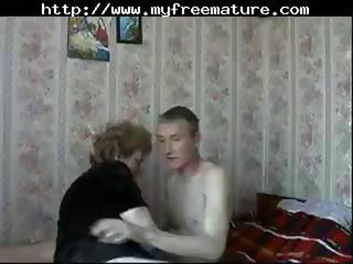 mature russian mamma receives a youthful chap to