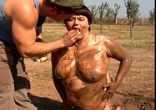 chubby doxy is enjoying hard sex in the mud
