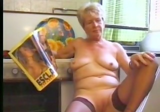 granny masturbating in stocking part5