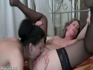 excited aged lesbos go crazy sucking part2