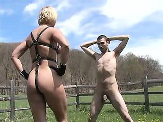 extreme blond milf dominatrix bizarre cbt balls