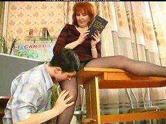 mature teaches her student russian cumshots