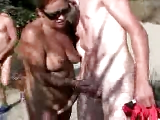 14 years old wife with juvenile lad in the beach