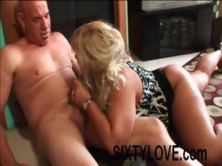chubby blonde wife sucks cock and acquires nailed