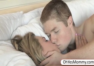 stepmom teaches legal age teenager lad on great