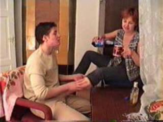 drunk mamma and son filmed by father