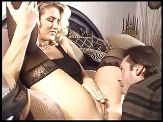 breasty blonde milf fucking in black stockings