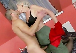 hawt granny enjoys sex with juvenile stud