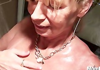 busty cougar receives drilled in the shower